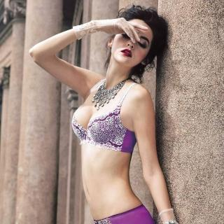 【曼黛瑪璉】Marie One 刺繡蕾絲內衣  B-E罩杯(耀眼紫)