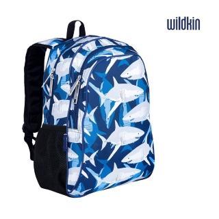 【Wildkin】兒童後背包/雙層式便利書包(67700 鯊魚家族)