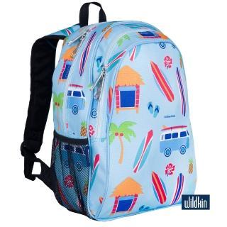 【Wildkin】兒童後背包/雙層式便利書包(67800 衝浪小屋)