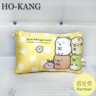 【HO KANG】正版授權 天絲可水洗童枕(角落生物-好伙伴)