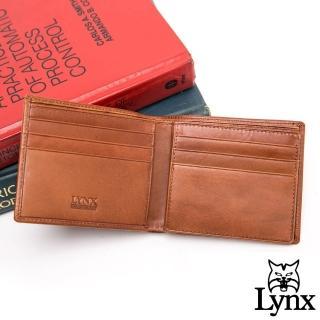 【Lynx】美國山貓臻品真皮系列9卡1照真皮短夾