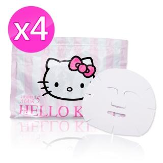 【TSUBAME MASK 5】HELLO KITTY 保濕美白面膜 大包裝34入(4包超值組)