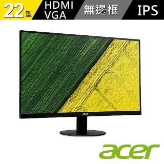【acer 宏碁】SA220Q A 22型 IPS 超薄無邊框螢幕