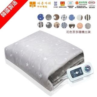 【韓國製造】甲珍雙人恆溫高級電熱毯(2+1年保固 顏色隨機出貨)
