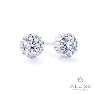 【A-LUXE 亞立詩】18K金 主鑽總重0.60克拉鑽石耳環