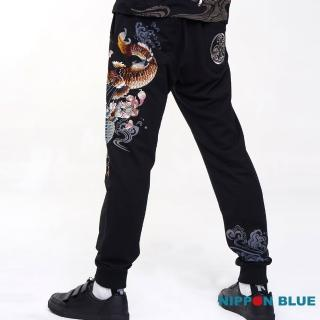 【BLUE WAY】進口金標 鬥鯉針織褲  - 日本藍