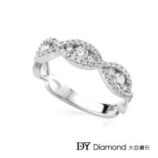 【DY Diamond 大亞鑽石】18K金 華麗風格鑽石線戒