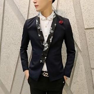 【米蘭精品】單排扣西裝外套(正規領型修身男外套3色65b32)