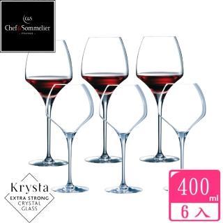 【法國C&S】OPEN UP玻璃水晶紅酒杯400cc(六入組)