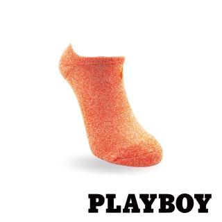 【PLAYBOY】經典兔頭刺繡花紗運動女襪-橙(運動襪)