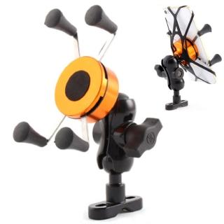 X型伸縮四爪 超穩固機車自行車導航手機支架 鷹爪架 黑色