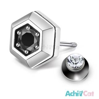 【AchiCat】925純銀耳環 復古六角形 栓扣式耳環 抗過敏鋼耳針 GS7067