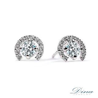 【DINA 蒂娜珠寶】時尚滿鑽微鑲輕珠寶 9K抗過敏耳環(JS76235)