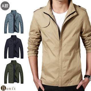 【Boni's】男士休閒風衣夾克(共3款)