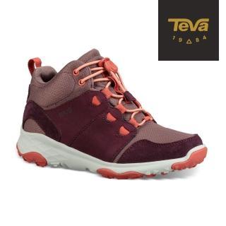 【TEVA】小童/大童 Arrowood 2 Mid WP 中筒防潑水休閒鞋(梅紅-TV1093994CPLUM/TV1093994YPLUM)