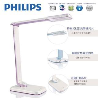 【Philips 飛利浦】大視界 SPADE PLUS 晶彥 LED檯燈(71663-紫色)