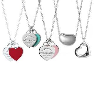 【Tiffany&Co. 蒂芙尼】經典款925純銀項鍊(5款任選/快速到貨)