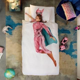 【皇室羽毛工房】荷蘭SNURK趣味寢具-SUPERHERO/PINK