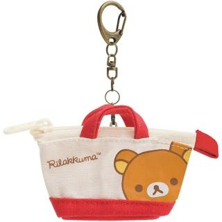 【San-X】拉拉熊專用換裝系列手提包零錢包吊飾。紅色(懶熊)