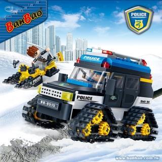 【BanBao 邦寶積木】7007/雪地警用車(新警察系列)