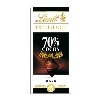 【Lindt 瑞士蓮】極醇系列70%巧克力片 100g(黑巧克力)