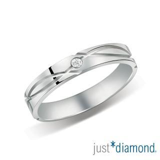 【Just Diamond】18K金鑽石戒指 深情印記 對戒(女戒)