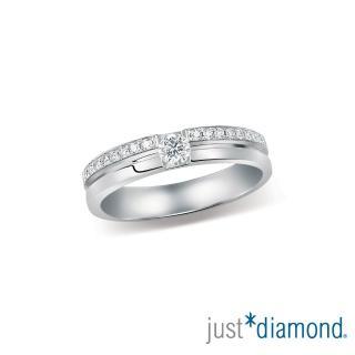 【Just Diamond】Eternity系列 18K鑽石戒指 Heartbeat 對戒(女戒)