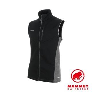 【Mammut 長毛象】Aconcagua ML Vest Men 快乾耐磨刷毛中層背心 黑色 男款 #1014-00330