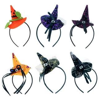 【梨花HaNA】萬聖節裝可愛小巫師帽髮箍(髮圈/髮箍)