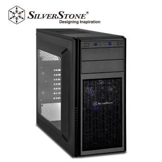 【SilverStone銀欣】PS11B-W 黑化側透機殼(銀欣_精準系列     PS11B-W)