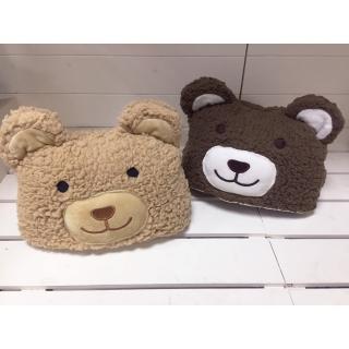 【BonBon naturel】熊熊收納保暖毯 淺咖啡/深咖啡(毛毯/抱枕/靠枕)