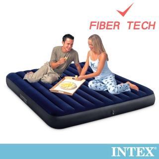 【INTEX】經典雙人特大_新款FIBER TECH_充氣床墊-寬183cm(64755)
