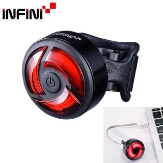 【INFINI】I-462R TURBO超輕量USB充電5段模式紅光後燈/尾燈/運轉燈-黑殼