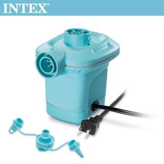 【INTEX】110V家用電動充氣幫浦_充洩二用-水藍色(58639)