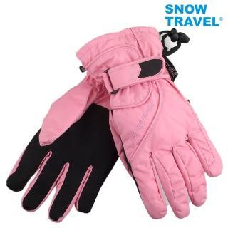 【SNOWTRAVEL】英國進口PORELLE防水保暖透氣薄手套AR-52粉紅(滑雪/騎車/戶外/雨天)