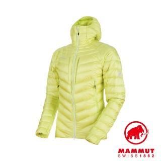 【Mammut 長毛象】Broad Peak Hooded Down Jacket 防潑水連帽羽絨外套 金絲雀 男款 #1013-00260