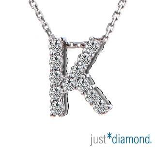 【Just Diamond】Love Words字母系列 18K金鑽石墜子-K