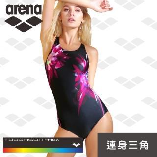 【arena】限量 秋冬新款 女士 訓練款 時尚保守 顯瘦遮肚 連體泳衣 修身三角(TMS8123W)