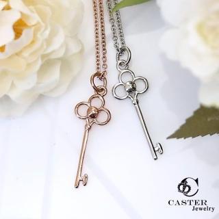 【日本 凱斯特 CASTER】花園的鑰匙 玫瑰金項鍊 防抗過敏 SUS316L頂級不鏽鋼飾品