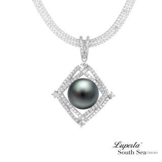 【大東山珠寶】璀璨之星 南洋珍珠純銀項鍊(南洋珍珠 大溪地黑)