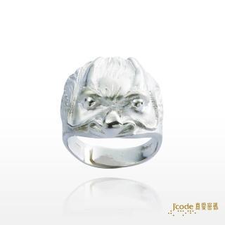 【J'code 真愛密碼】納財龍純銀戒指-男戒(招財銀飾)