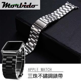 【Apple Watch】不鏽鋼三珠蝶扣錶帶-贈拆錶器(40mm)