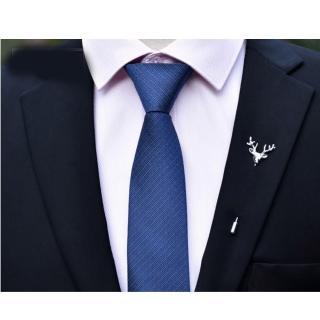 【拉福】領帶6cm中窄版領帶精工拉鍊領帶(兒童 深藍)