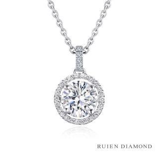 【RUIEN DIAMOND 瑞恩鑽石】GIA 1克拉 D VS2 3EX(18K玫瑰金 求婚鑽戒 手心)