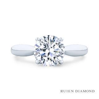 【RUIEN DIAMOND 瑞恩鑽石】GIA 1克拉 D VS2 3EX(18K白金 求婚鑽戒 手心)