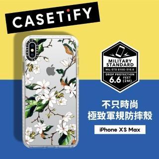 【Casetify】iPhone XS Max 耐衝擊保護殼-木蘭花(通過美國軍規耐衝擊認証)