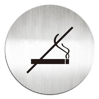 【deflect-o】鋁質圓形貼牌-禁止吸煙 610810C(鋁質貼牌)