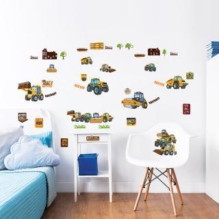 【英國Walltastic】英國Walltastic童趣壁貼-挖掘車