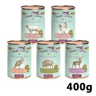 【德國TERRA CANIS醍菈鮮廚】犬用原味封存無穀鮮食餐/主食罐400g*6入-口味任選