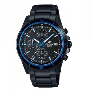 【CASIO 卡西歐】EDIFICE計時碼錶系列 Red Bull紅牛F1賽車款/ 44mm/ IP黑x藍(EFR-526BK-1A2)
